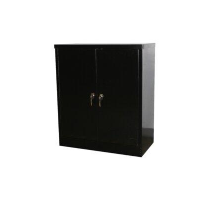 """42"""" H x 36"""" W x 18"""" D Standard Storage Cabinet Finish: Black"""
