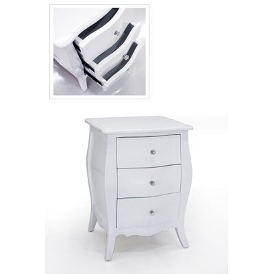 Charlesworthy Felicienne 3 Drawer Bedside Table
