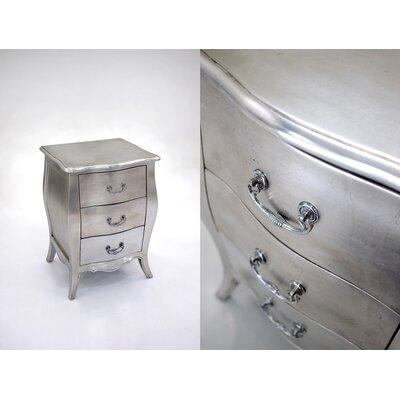 Charlesworthy Felicienne 3 Drawer Bedside Table