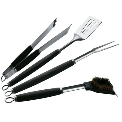 BBQMaster Barbecue Pro 4 Piece Deluxe Tool Set