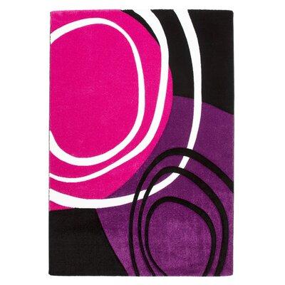 Obsession Handgearbeiteter Teppich Lifestyle in Pink/ Schwarz/ Lila