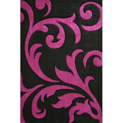 Lalee France Paris Hand-Woven Black Area Rug