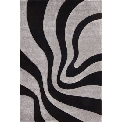 Lalee France Provence Hand-Woven Black Area Rug