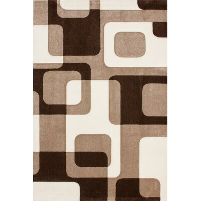 Lalee France Versailles Hand-Woven Beige and Mocca Area Rug