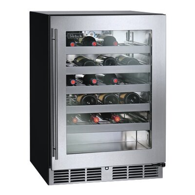 40 Bottle Single Zone Built-In Wine Cooler Hinge Location: Right
