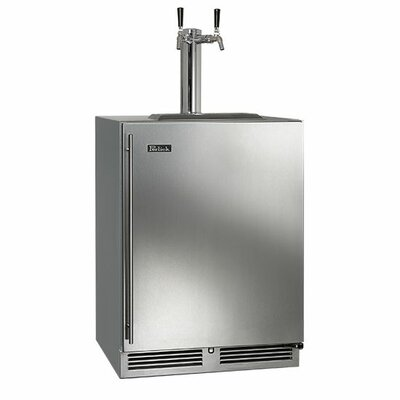 5.2 cu. ft. C-Series Dual Tap Kegerator Door Swing: Left