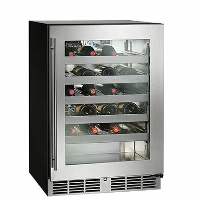 32 Bottle Freestanding Wine Cooler Hinge Orientation: Left