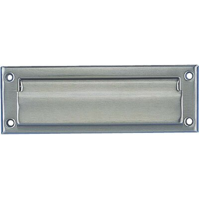 10.5 in x 7 in Mail Slot Color: Satin Nickel