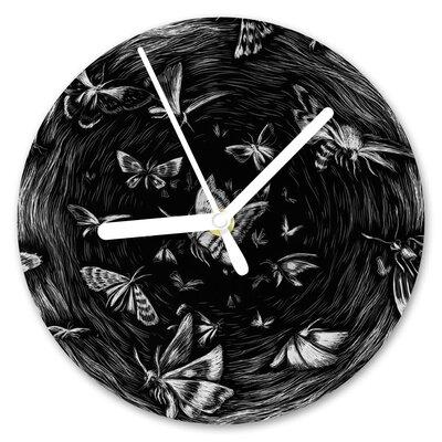 I-like-Paper Analoge Wanduhr Butterfly Effect 13 cm
