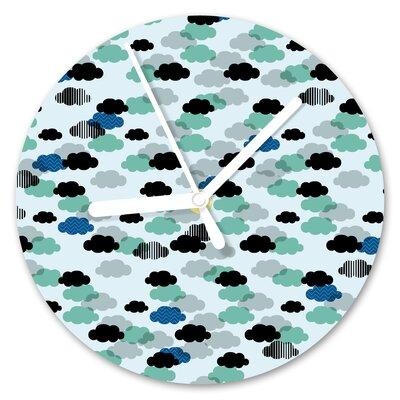 I-like-Paper Analoge Wanduhr Cloudy 13 cm