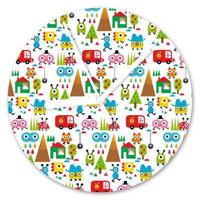 I-like-Paper Analoge Wanduhr Happy World 13 cm