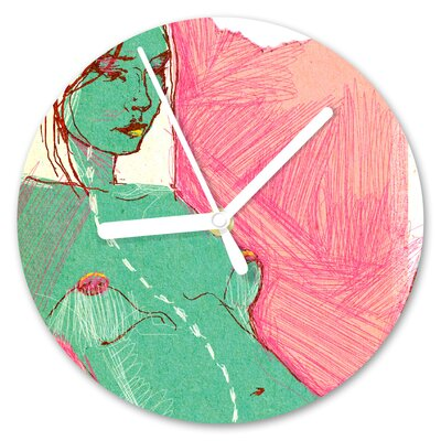 I-like-Paper Analoge Wanduhr One Woman Again 13 cm