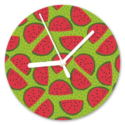 I-like-Paper Analoge Wanduhr I Carried a Watermelon 13 cm