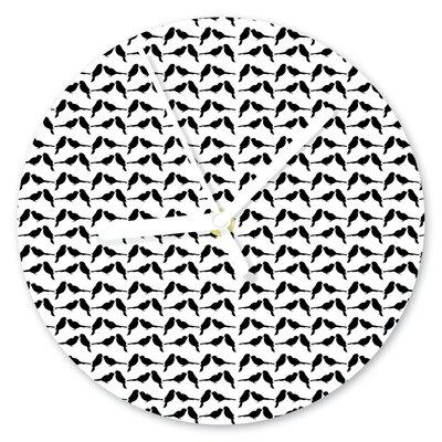 I-like-Paper Analoge Wanduhr Black Sparrow 13 cm