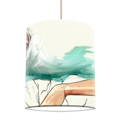 I-like-Paper 20 cm Lampenschirm Woman with Bag aus Tyvek