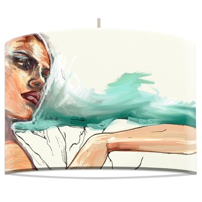 I-like-Paper 40 cm Lampenschirm Woman with Bag aus Tyvek