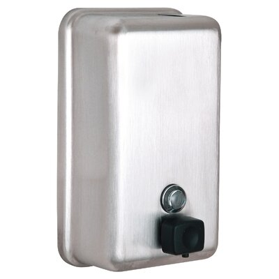 Manual Surface-Mounted Stainless Steel Liquid Vertical Soap Dispenser