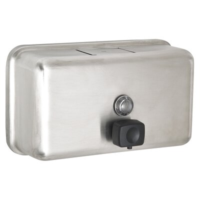 Manual Surface-Mounted Stainless Steel Liquid Horizontal Soap Dispenser