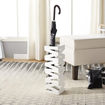 Bencomo Umbrella Stand Finish: White