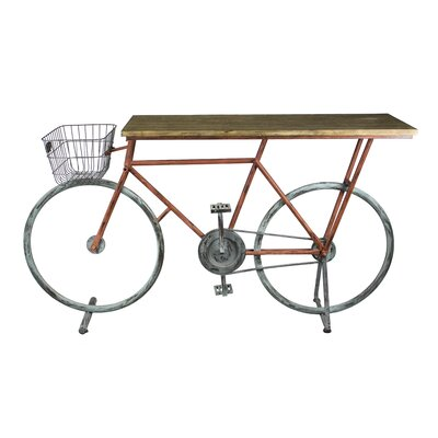 Winslow Bicycle Console Table Color: Brown