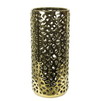 Benda Pierced Umbrella Stand Color: Gold