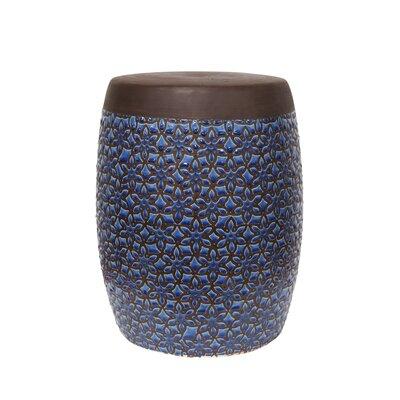 Zaytoune Floral Ceramic Garden Stool