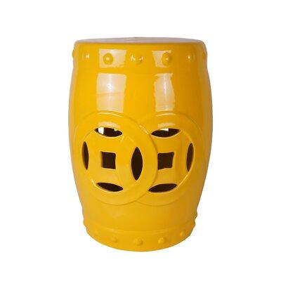 Cofer Ceramic Garden Stool Color: Yellow