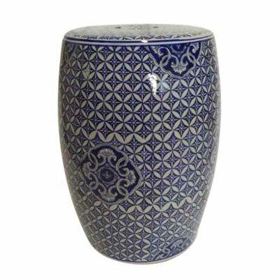 Zaytoune Ikat Ceramic Garden Stool