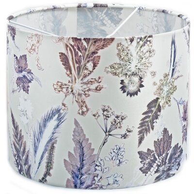Gillian Arnold 30cm Winter Flourish Fabric Drum Pendant Shade