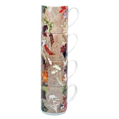 Gillian Arnold Floral Dance 4 Piece Stacking Mug Set