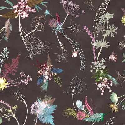 Gillian Arnold Edwardian Blooms 10m L x 52cm W Roll Wallpaper