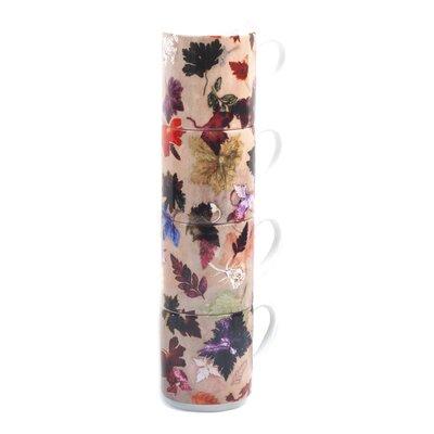 Gillian Arnold Autumn Flurry 4 Piece Stacking Mug Set