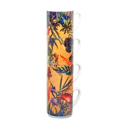 Gillian Arnold Summer Tropics 4 Piece Stacking Mug Set