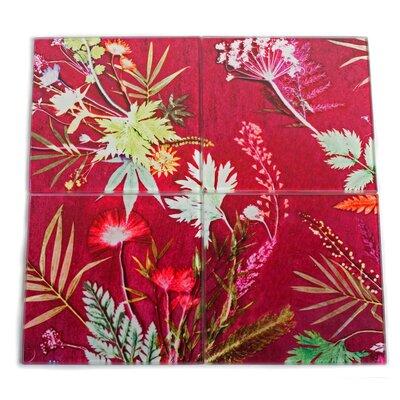 Gillian Arnold Tropical 4 Piece Glass Coaster Set