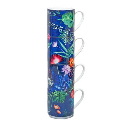 Gillian Arnold Tropical 4 Piece Stacking Mug Set