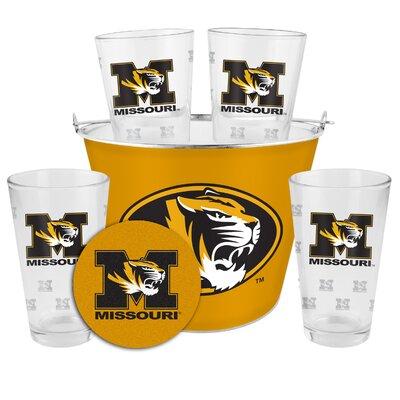 NCAA 9 Piece Gift Bucket Set NCAA Team: University of Missouri Tigers