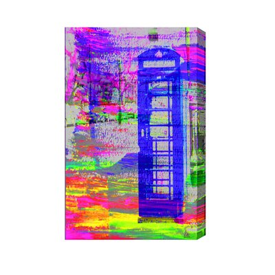 Andrew Lee London Stretchy Post Box by Andrew Lee Art Print on Canvas