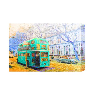 Andrew Lee London Bus Green Rear by Andrew Lee Graphic Art on Canvas