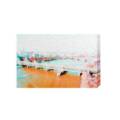 Andrew Lee London Eye View Orange by Andrew Lee Graphic Art Wrapped on Canvas