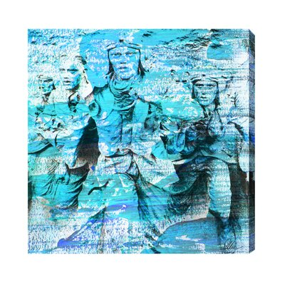 Andrew Lee London Battle of Britain Men Marching by Andrew Lee Graphic Art Wrapped on Canvas