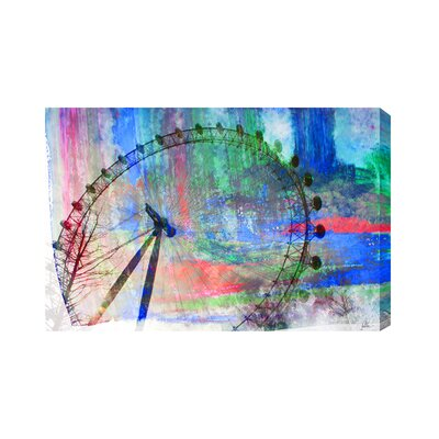 Andrew Lee London Eye Paint Graphic Art Wrapped on Canvas
