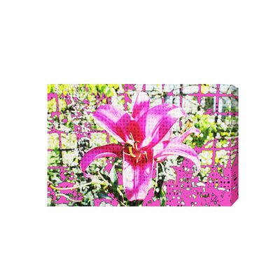 Andrew Lee Pink Flower by Andrew Lee Graphic Art Wrapped on Canvas