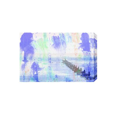 Andrew Lee Beach Blue Graphic Art Wrapped on Canvas