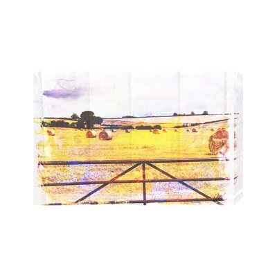 Andrew Lee Countryside Hay Bale by Andrew Lee Graphic Art Wrapped on Canvas