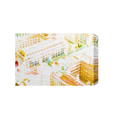 Andrew Lee London Roof Tops Orange by Andrew Lee Graphic Art on Canvas