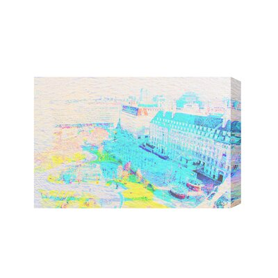 Andrew Lee London Eye Park Graphic Art Wrapped on Canvas