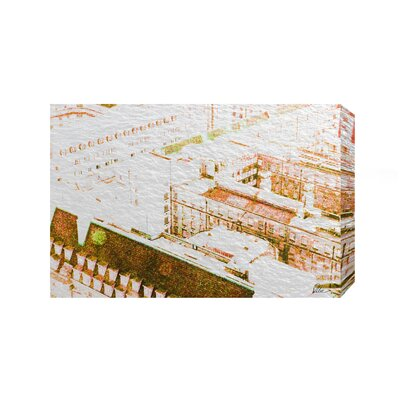 Andrew Lee London Chimney Tops Brown by Andrew Lee Graphic Art Wrapped on Canvas