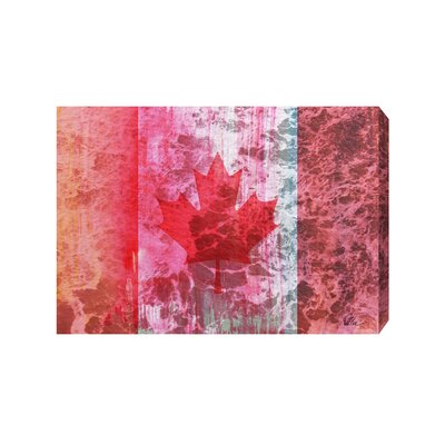 Andrew Lee Maps and Flags Canada Flag by Andrew Lee Graphic Art Wrapped on Canvas