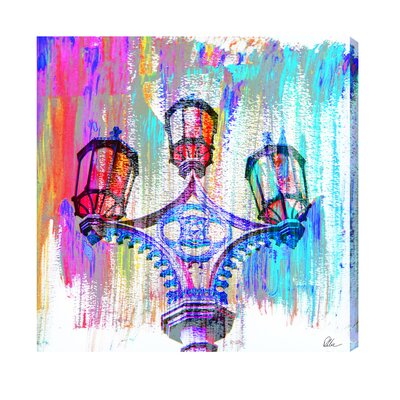 Andrew Lee London Big Ben Street Lamps Graphic Art Wrapped on Canvas