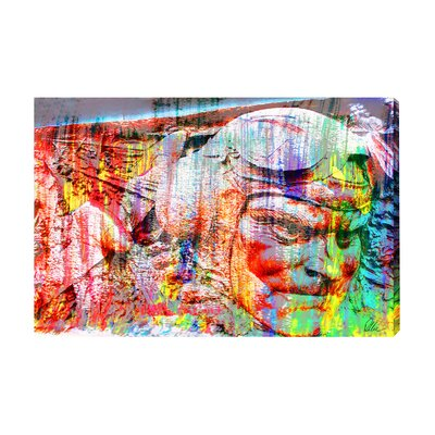 Andrew Lee London Battle of Britain Head Graphic Art Wrapped on Canvas